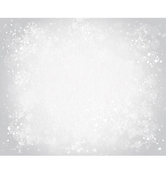 gray canvas background with snowflakes vector image