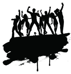 Grunge party people 3103 vector