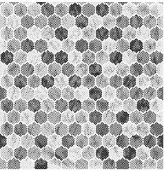 halftone hexagon pattern vector image