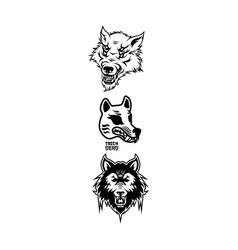 Halloween werewolf head element vector