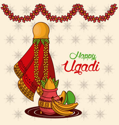Happy ugadi design vector