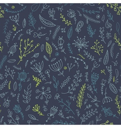 herb seamless pattern vector image