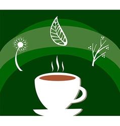Herbal tea label vector image