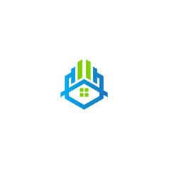 Home realty business company logo vector