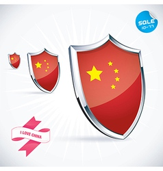 I Love China Flag vector