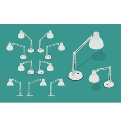 Isometric desk lamps vector