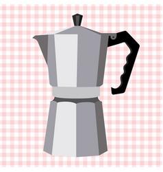 Italian geyser coffee maker vector
