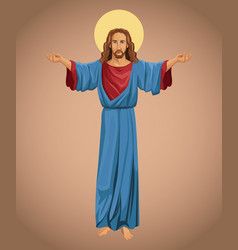 Jesus christ religious faith image vector