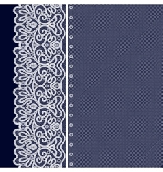 Lace Decorative Background vector image