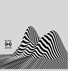 landscape background terrain black and white vector image