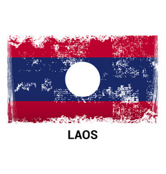 laos flags design vector image