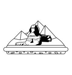 Line giza egypt sculpture architecture pyramids vector