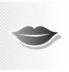 Lips sign new year blackish vector