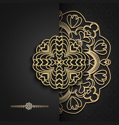 Luxury background with oriental mandalafor vector