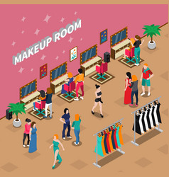 Makeup room fashion isometric vector