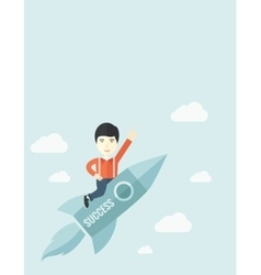 Man in start-up business vector image