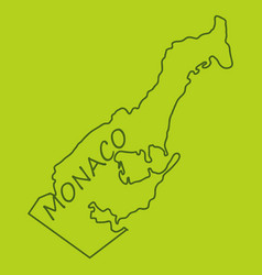 map and flag of monaco with white background vector image