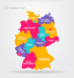 map germany with names vector image
