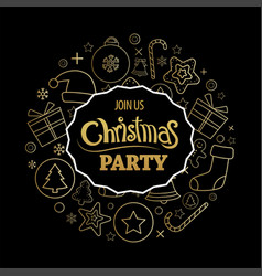 Merry christmas party invitations and greeting vector