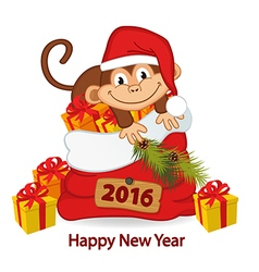 Monkey symbol of 2016 year vector