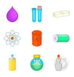 Narcotic icons set cartoon style vector