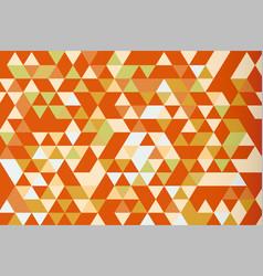 orange mosaic triangle prism background warm tone vector image