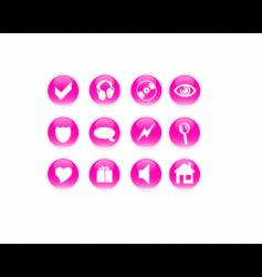 Pink icons vector