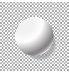 realistic white ball isolated vector image