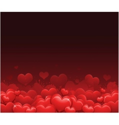 Red valentines day background vector