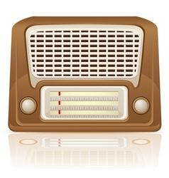 retro radio 01 vector image vector image