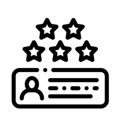 Review stars icon outline vector