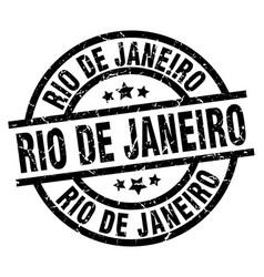 Rio de janeiro black round grunge stamp vector