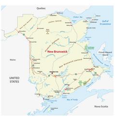 Road map canada atlantic province new vector