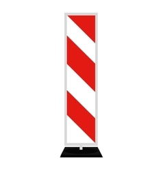 Road signs Red Badge guardrails vector
