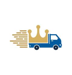 royal delivery logo icon design vector image