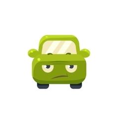 Sceptic Green Car Emoji vector image