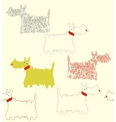 Scotch terrier white vector