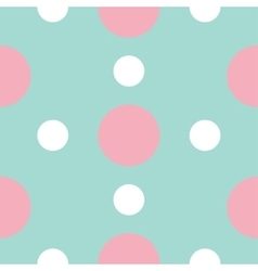 Seamless Pattern with circle white and pink dots vector