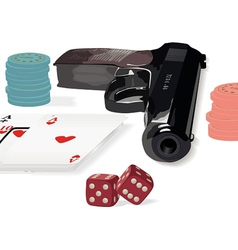 Set of various subjects from a casino subject vector