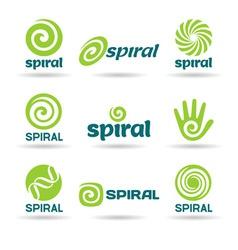 set spirals vector image