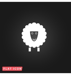 Sheep flat icon vector