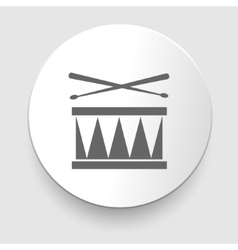 Snare drum icon vector