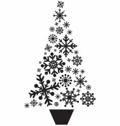 Snow flake tree vector