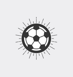 Soccer ball with sunburst vector