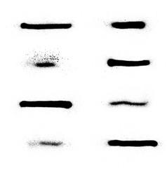 Sprayed graffiti stripe collection in black white vector