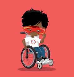 Superhero in a wheelchair ironman dark 07 vector