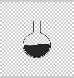 Test tube and flask - chemical laboratory test vector