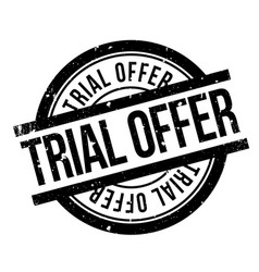 trial offer rubber stamp vector image