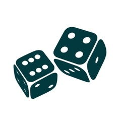two game dices isolated vector image