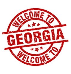 welcome to georgia red stamp vector image